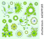 hand drawn flowers | Shutterstock .eps vector #665699185