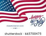 happy 4th of july usa... | Shutterstock .eps vector #665700475