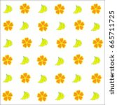 baby fabric banana vector | Shutterstock .eps vector #665711725