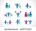 abstract people icon template... | Shutterstock .eps vector #66571321