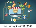 best sales concept design... | Shutterstock .eps vector #665717941