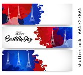 vector illustration of a banner ... | Shutterstock .eps vector #665727865