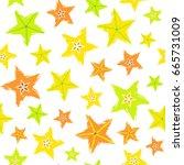 starfruit background. fruit... | Shutterstock .eps vector #665731009