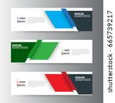 abstract geometric vector web... | Shutterstock .eps vector #665739217