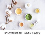 natural skincare cosmetic... | Shutterstock . vector #665741299
