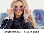 close up image of beautiful... | Shutterstock . vector #665751055