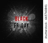 black friday. great sale. text... | Shutterstock .eps vector #665760841