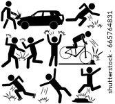 people crashing  fighting ...   Shutterstock .eps vector #665764831