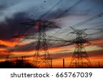 clouds  electrical tower