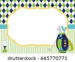 vector card template with golf... | Shutterstock .eps vector #665770771