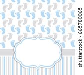 Vector Card Template For Baby...