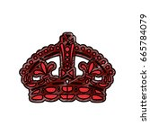 queen crown symbol | Shutterstock .eps vector #665784079