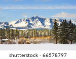 Snow Covering Mountain With...