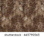 seamless leopard pattern.... | Shutterstock . vector #665790565