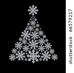 fur tree made from diamond... | Shutterstock . vector #66579217
