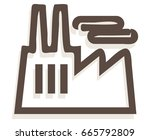 industry building icon  ... | Shutterstock .eps vector #665792809