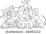 group of dogs illustration for... | Shutterstock . vector #66581212