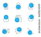 vector illustration of 9 ui...