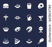 set of 16 food icons set...   Shutterstock .eps vector #665814784