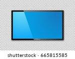 flat tv screen realistic vector ...   Shutterstock .eps vector #665815585