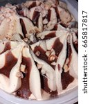 hazelnut chocolate ice cream | Shutterstock . vector #665817817