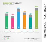 infographics elements diagram... | Shutterstock .eps vector #665818987