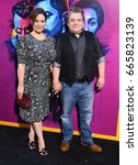 Small photo of LOS ANGELES - JUN 20: Meredith Salenger and Patton Oswalt arrives for the AMC Season Two 'Preacher' Premiere Screening on June 20, 2017 in Los Angeles, CA
