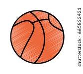basketball ball icon | Shutterstock .eps vector #665832421