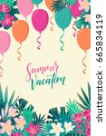vertical template with colorful ... | Shutterstock .eps vector #665834119