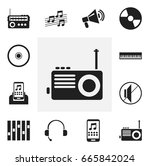 set of 12 editable music icons. ...