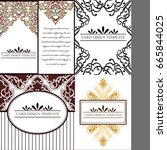 vintage delicate invitation... | Shutterstock .eps vector #665844025