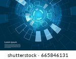 abstract technology concept... | Shutterstock .eps vector #665846131