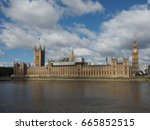 houses of parliament aka... | Shutterstock . vector #665852515