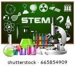 poster design for stem... | Shutterstock .eps vector #665854909
