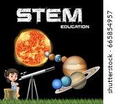 stem education poster design... | Shutterstock .eps vector #665854957