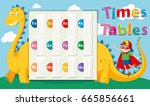 times tables template with... | Shutterstock .eps vector #665856661