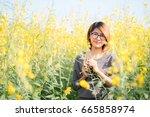 portrait of beauty woman in the ... | Shutterstock . vector #665858974