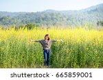 portrait of beauty woman in the ... | Shutterstock . vector #665859001