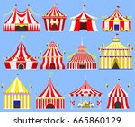 circus show entertainment tent... | Shutterstock .eps vector #665860129