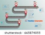 design template  road map...   Shutterstock .eps vector #665874055