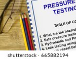 test and inspection requirement ... | Shutterstock . vector #665882194