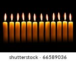 Twelve Alight Candles Over The...