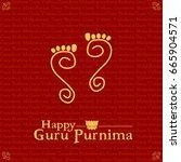 guru purnima vector... | Shutterstock .eps vector #665904571