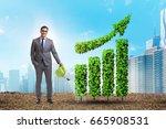 businessman in recyling...   Shutterstock . vector #665908531