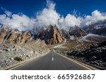 karakoram highway  pakistan  | Shutterstock . vector #665926867