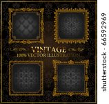 vector vintage gold black... | Shutterstock .eps vector #66592969