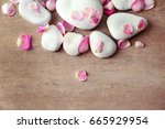 spa stones and petals on... | Shutterstock . vector #665929954