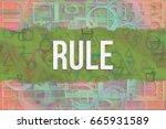 rule  information technology... | Shutterstock . vector #665931589