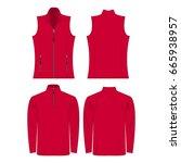 hot pink color autumn fleece... | Shutterstock .eps vector #665938957
