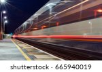 two trains passing through a uk ... | Shutterstock . vector #665940019